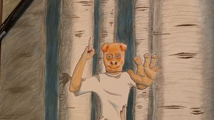 Masked Serial Killer in the Woods