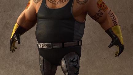 Fat wrestler