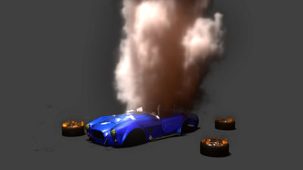 Shelby explosion animation
