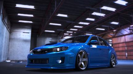 Subaru STI 2011 garage