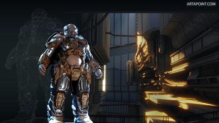 Chunk-Man (Game Character & Environment). Hard surface
