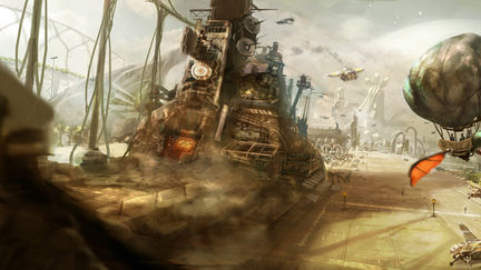 The steampunk Spatioport