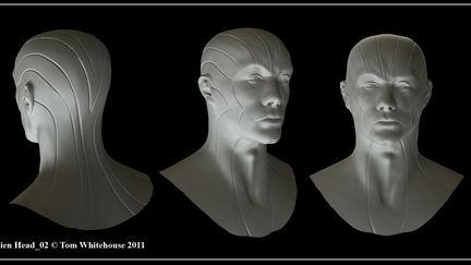 Alien Head 02 Concept Sculpt