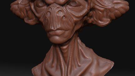 An alien quick sculpt 2
