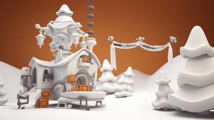 """Christmas Workshop"" Ecard for Windmill Lane Studio, Dublin"