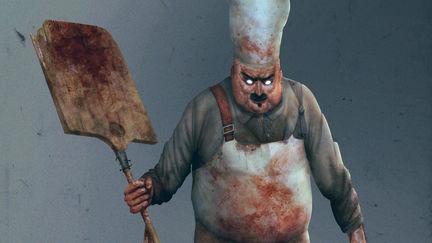 Evil baker with prey