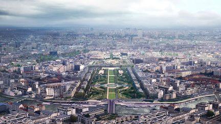 EndWar trailer - Paris explosion - matte painting