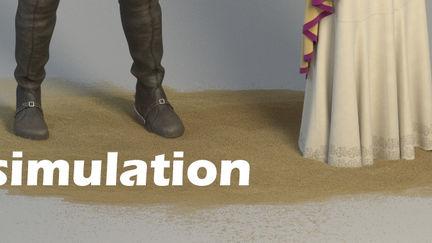 Sand simulation. Houdini