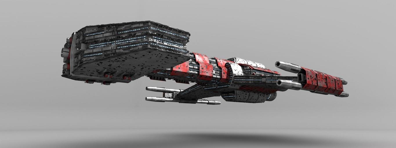 Starcraft Battlecruiser Model Shot