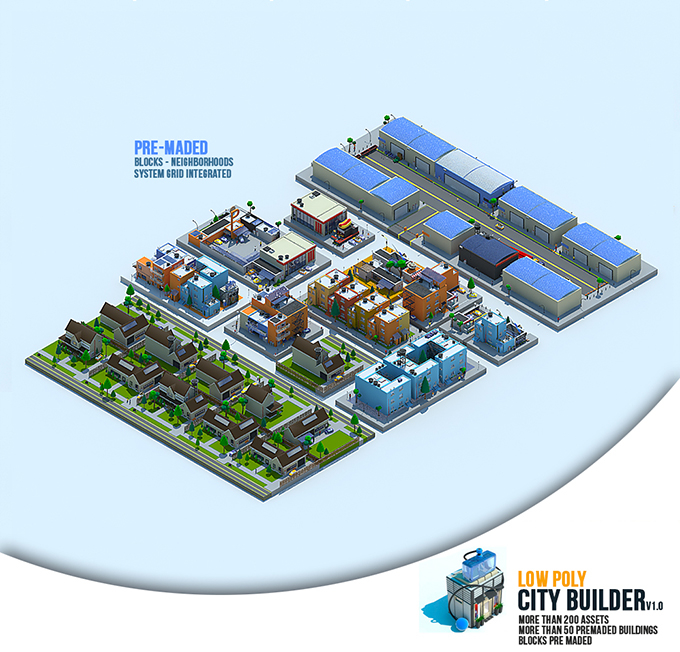low poly city builder, 3D max great new PLUGIN by danielguevara