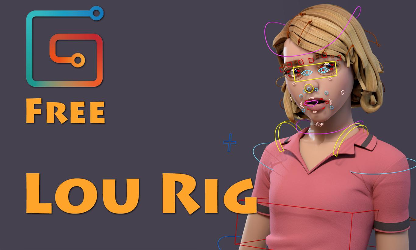 Lou free rig by Dmitrodanilov | 3D | CGSociety