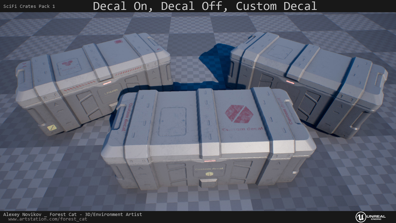 UE4] SciFi Crates Pack 1 1 by ForestCat | Sci-Fi | 2D | CGSociety