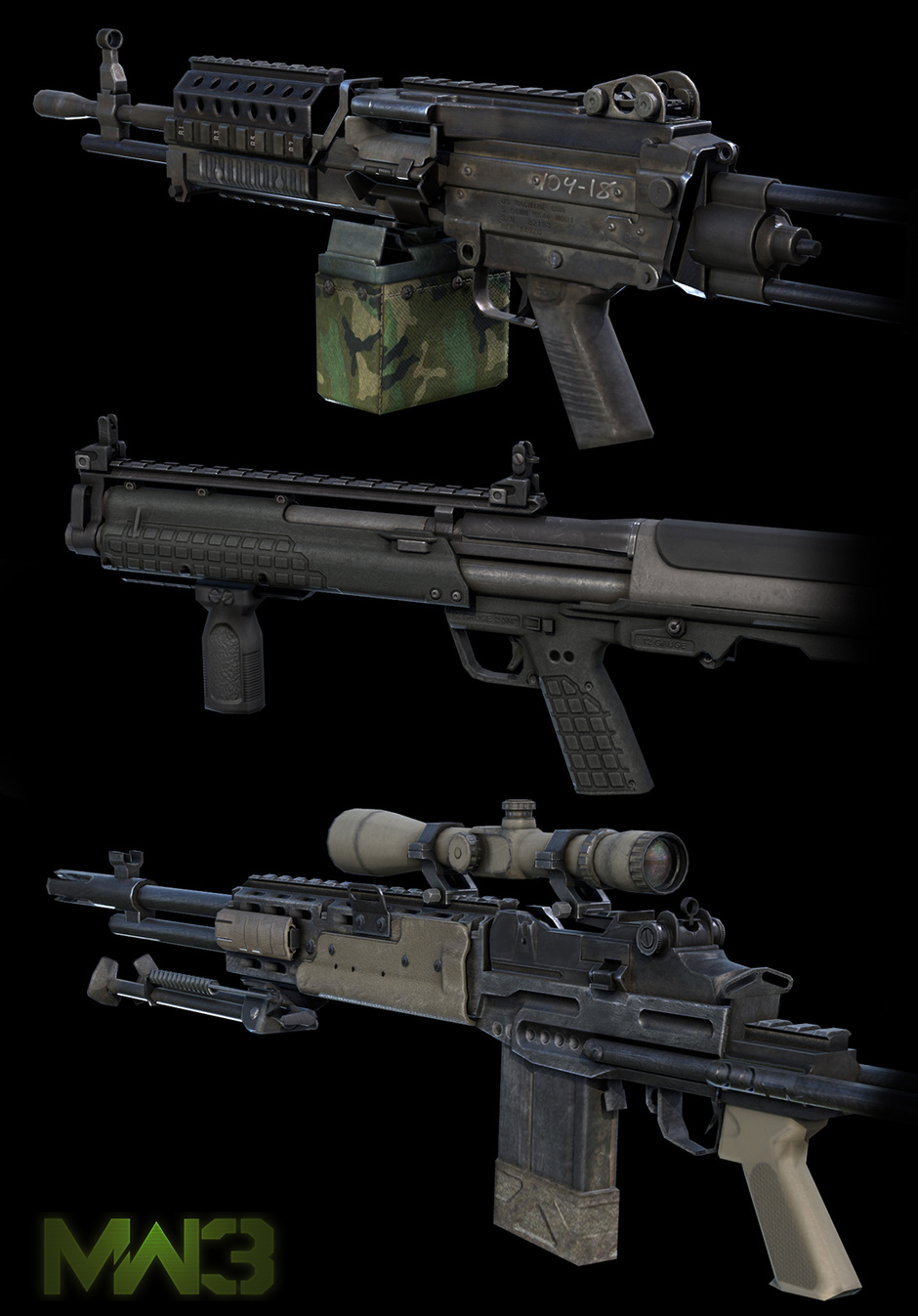 MW3 Weapons by Gennady | Realistic | 2D | CGSociety