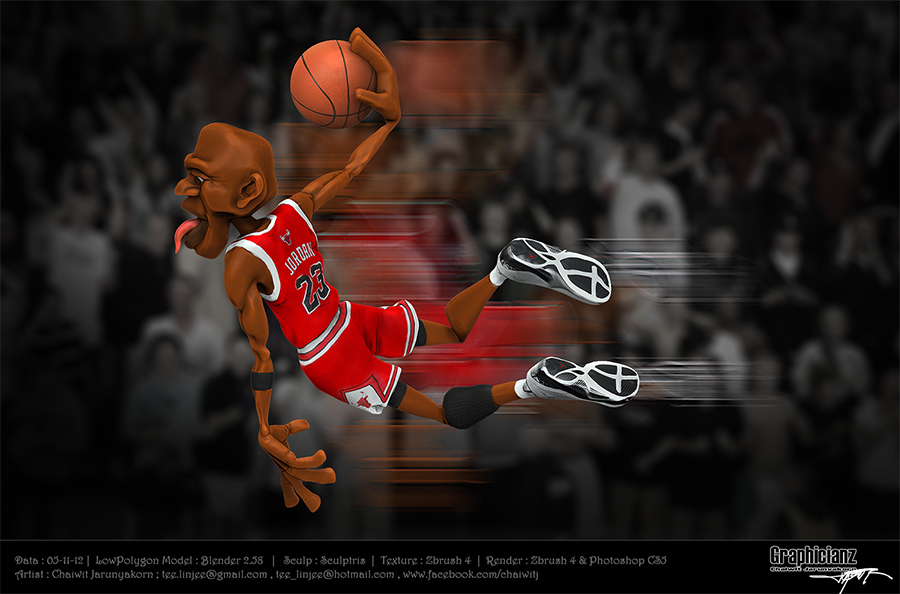 Michael Jordan by Graphicianz | 3D | CGSociety