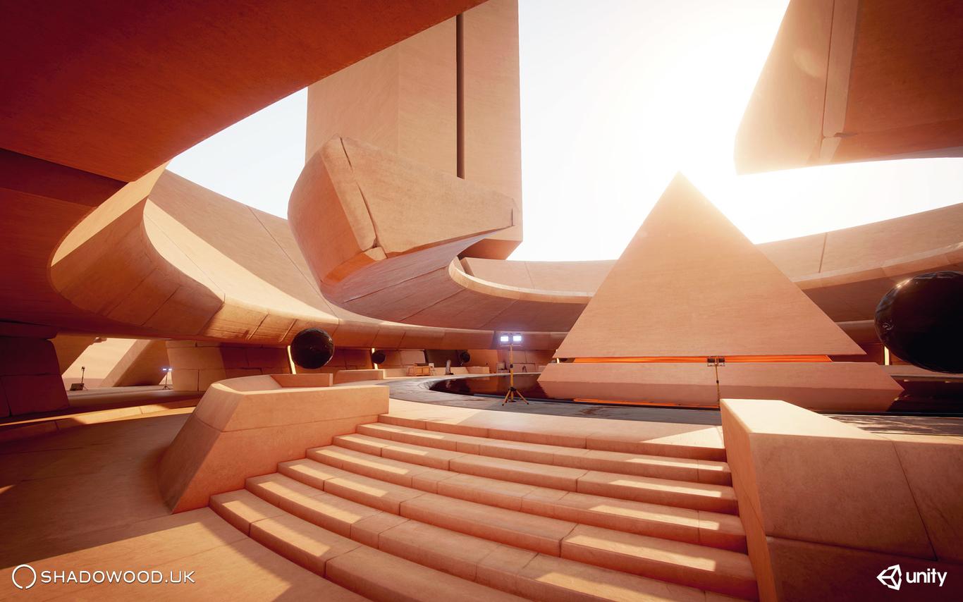 Unity Courtyard - Realtime Lighting Demo by HeliosDoubleSix