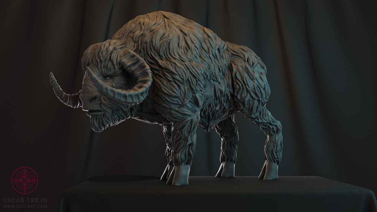 Cave Buffalo by HereticTemplar | Fantasy | 3D | CGSociety