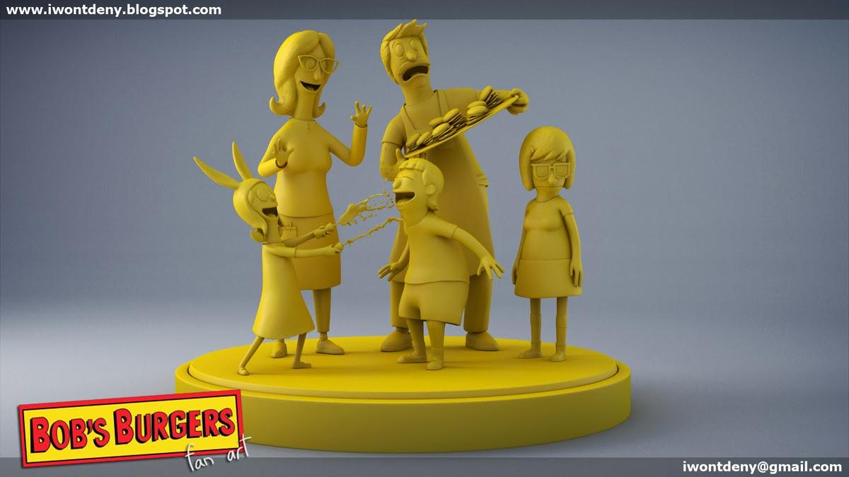 Bob S Burgers Fan Art By Iwontdeny 3d Cgsociety
