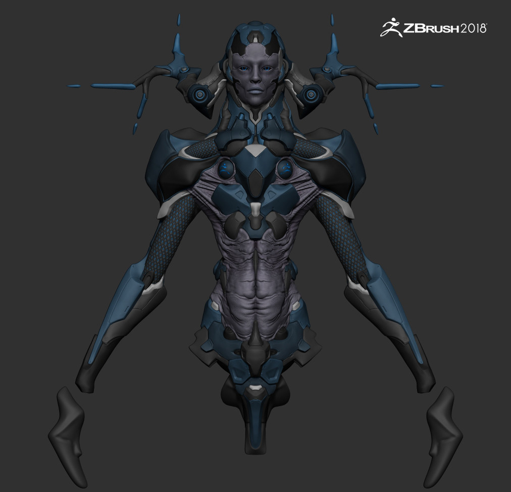 Zbrush 2018 Beta Test - Tree of Knowledge by JoseRosales   Sci-Fi