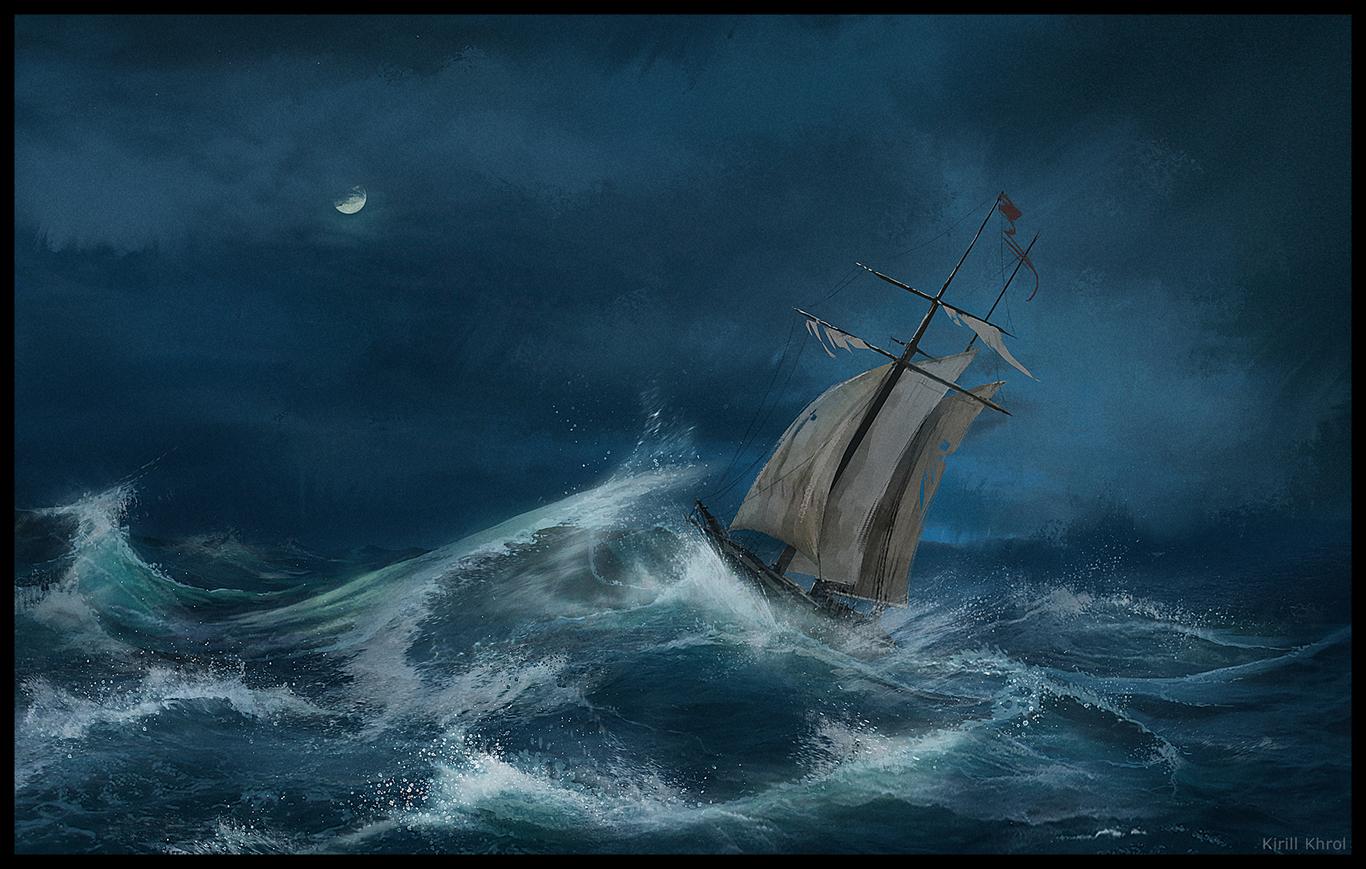 картинка парусник во время шторма удачных идей стрижки
