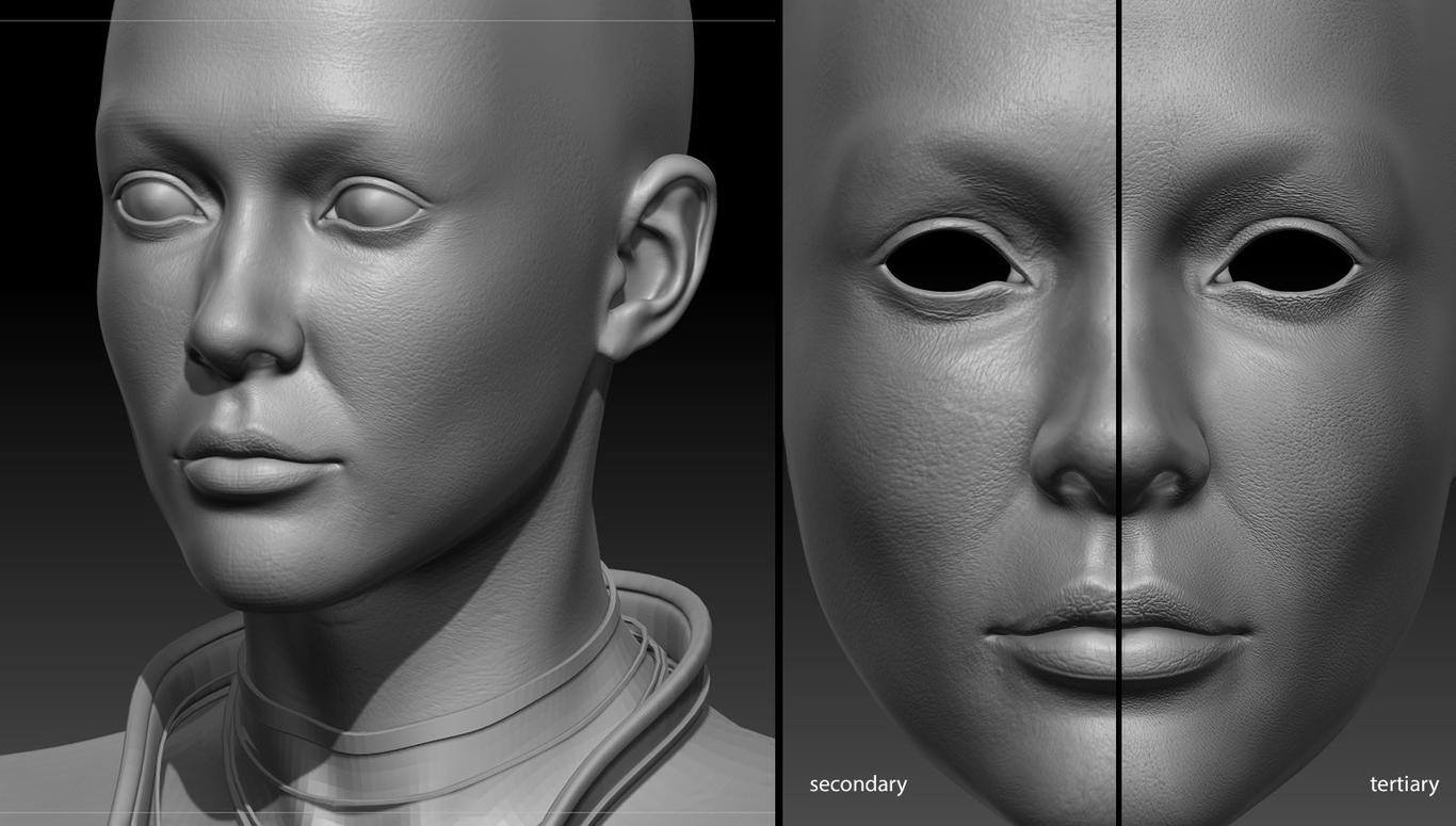 Undercut Girl by Parasite | Portrait | 3D | CGSociety