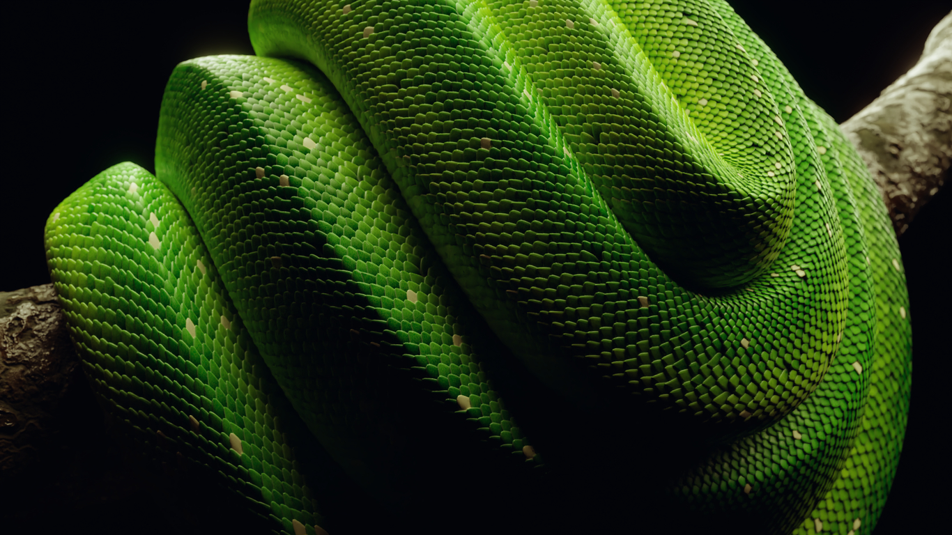 Procedural Snakes in Blender [Free Material Download] by