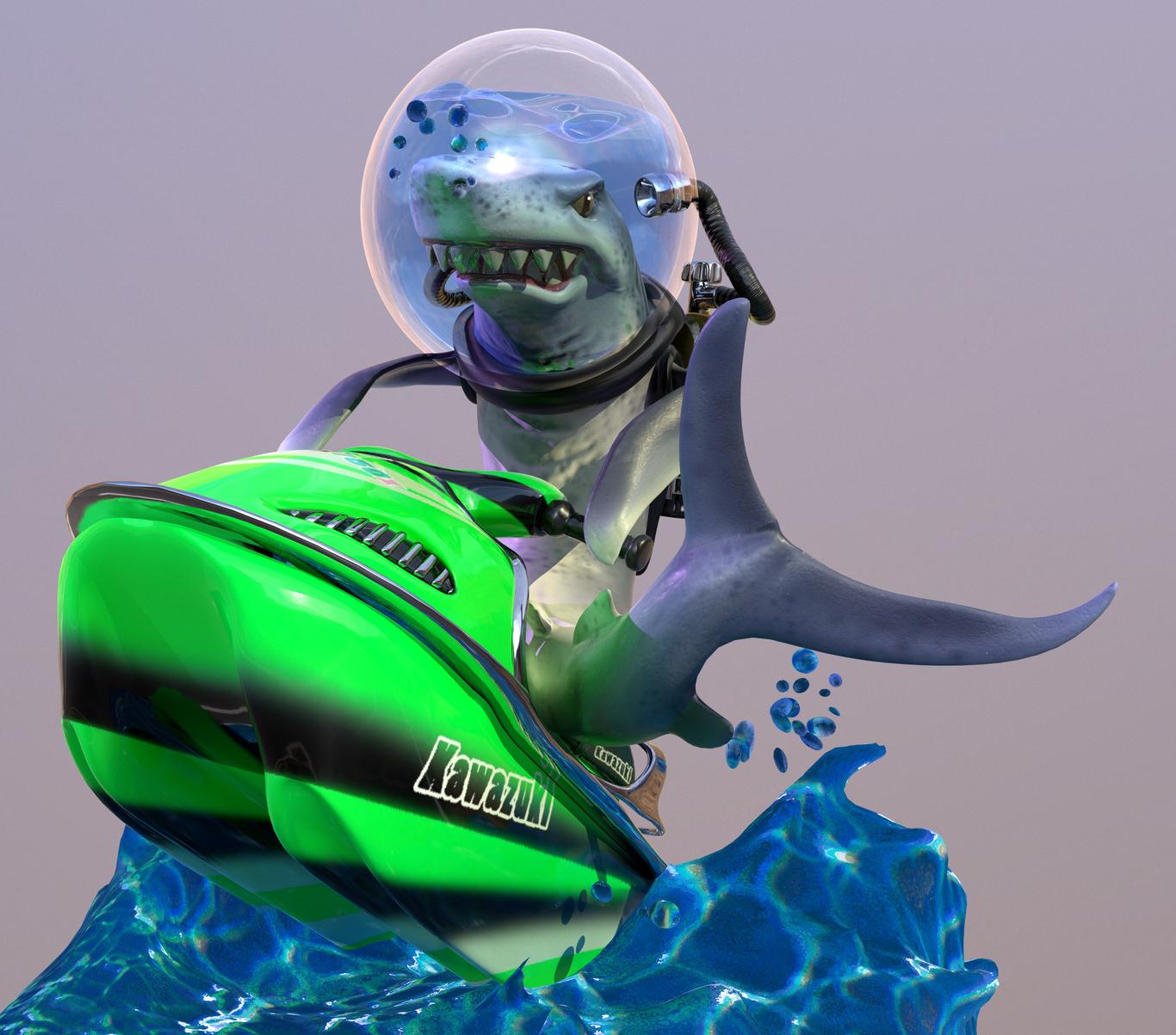 Rabaman71 shark on jetski 1 3df214f7 l1pg