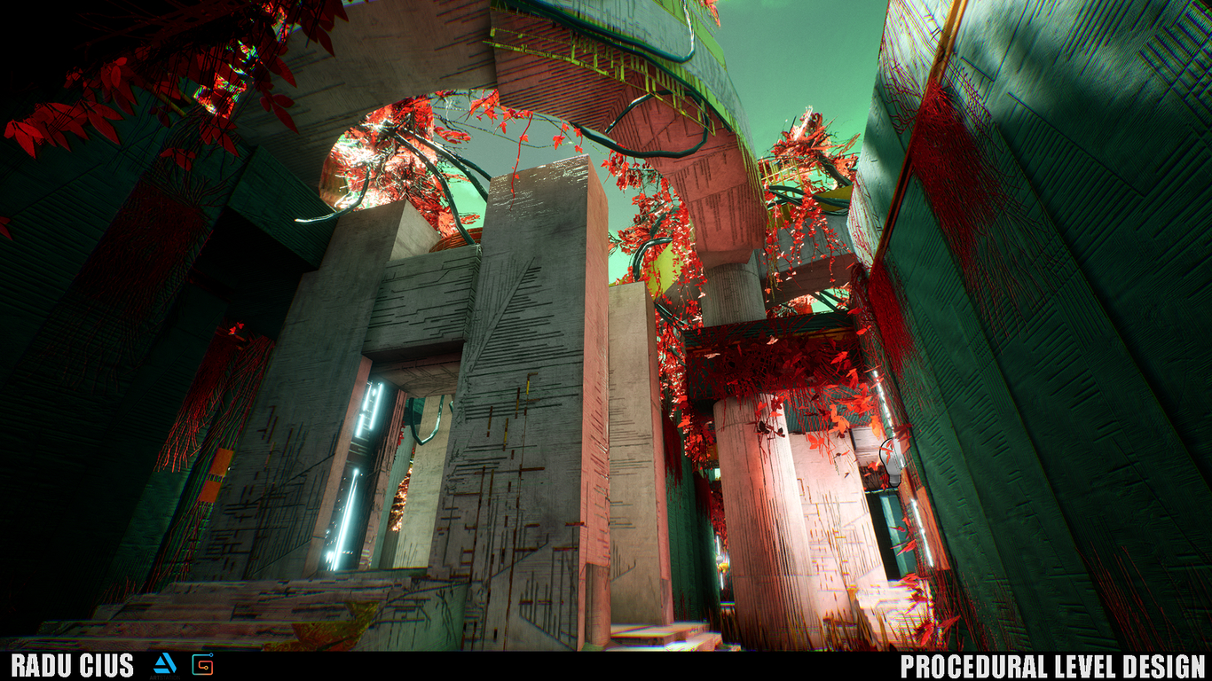 Procedural Level Design in Unreal Engine by RaduCius | Concept Art