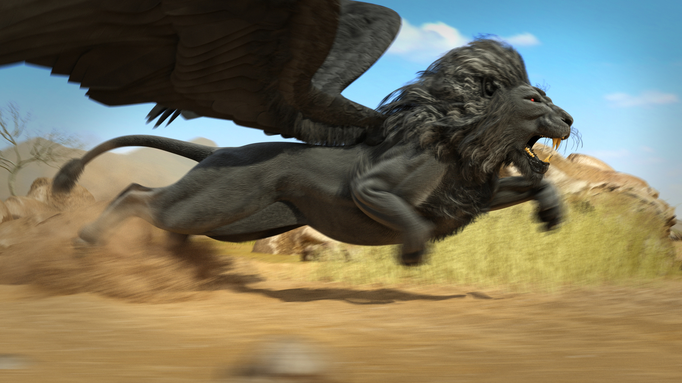 winged lion    animation by ricmage
