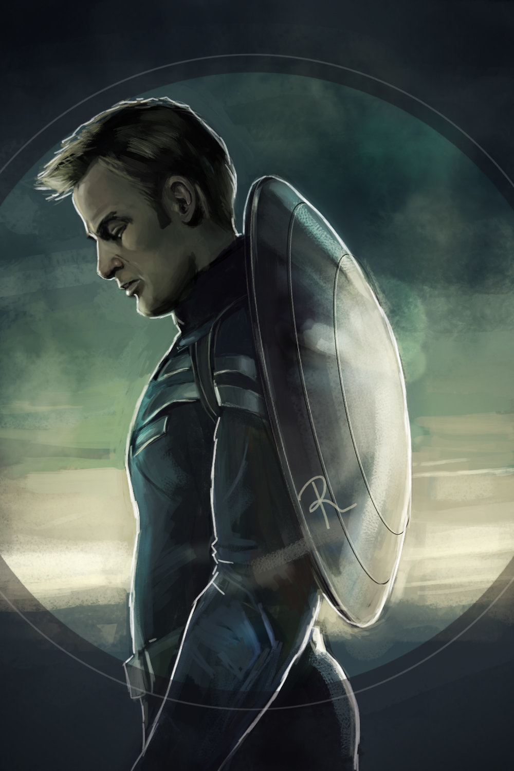 Fan-art Captain America by Rusalka511 | Portrait | 2D