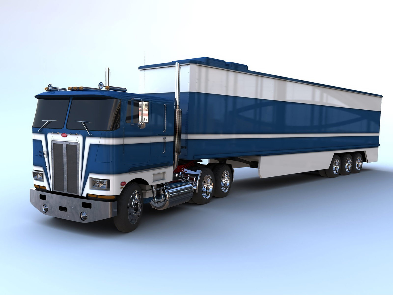 Peterbilt 362 COE by scooterlord   3D   CGSociety