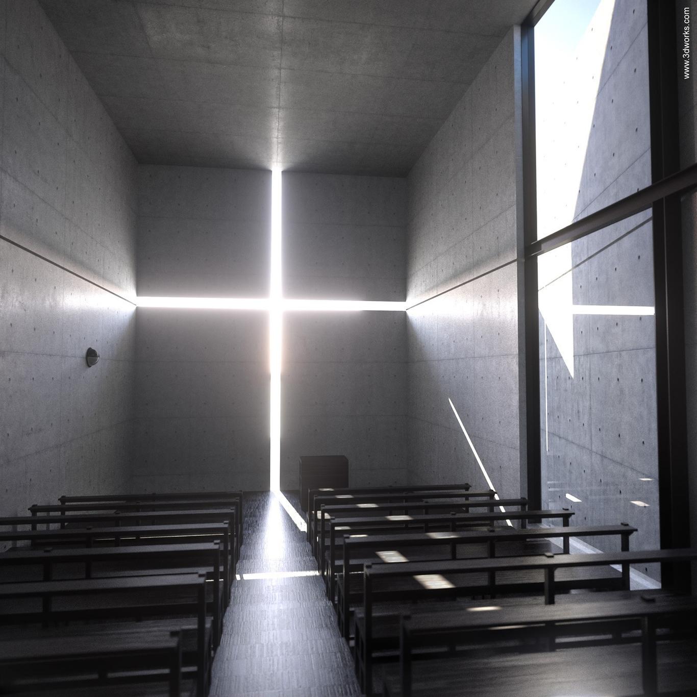 Threedeworks tadao ando church in 1 05cebe5d hw1s