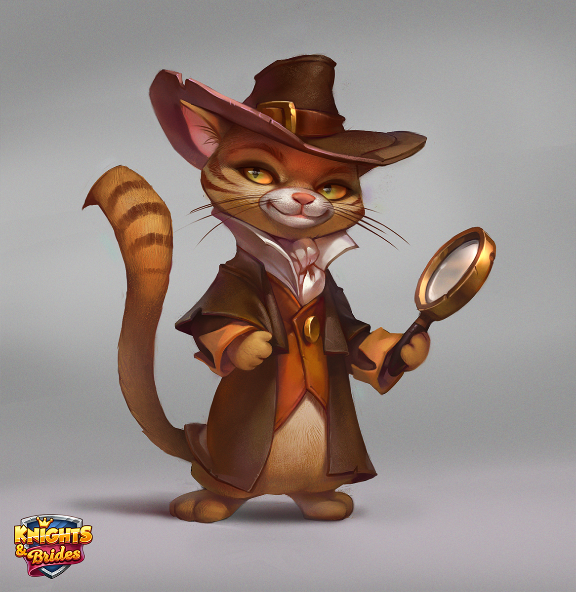 Detective Cat Cartoon