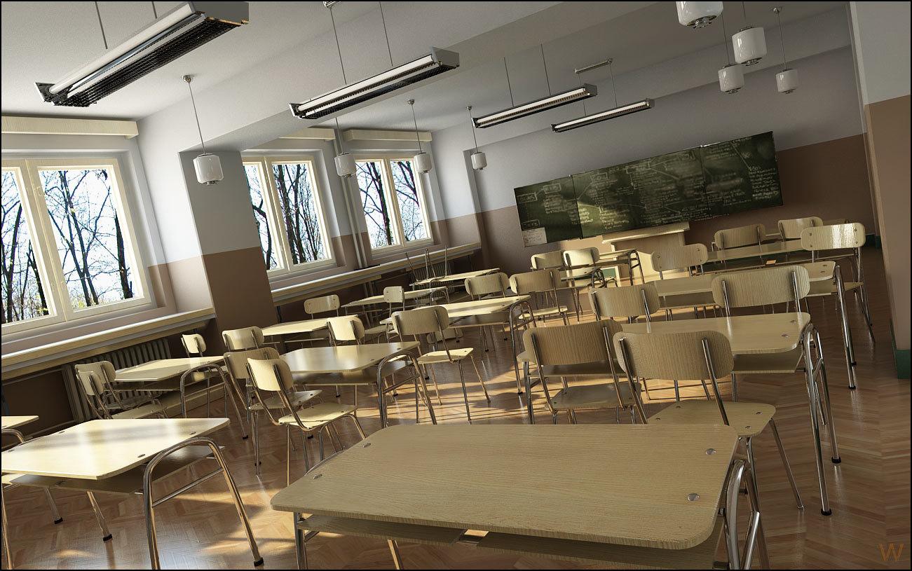 Classroom scene by veve | 3D | CGSociety