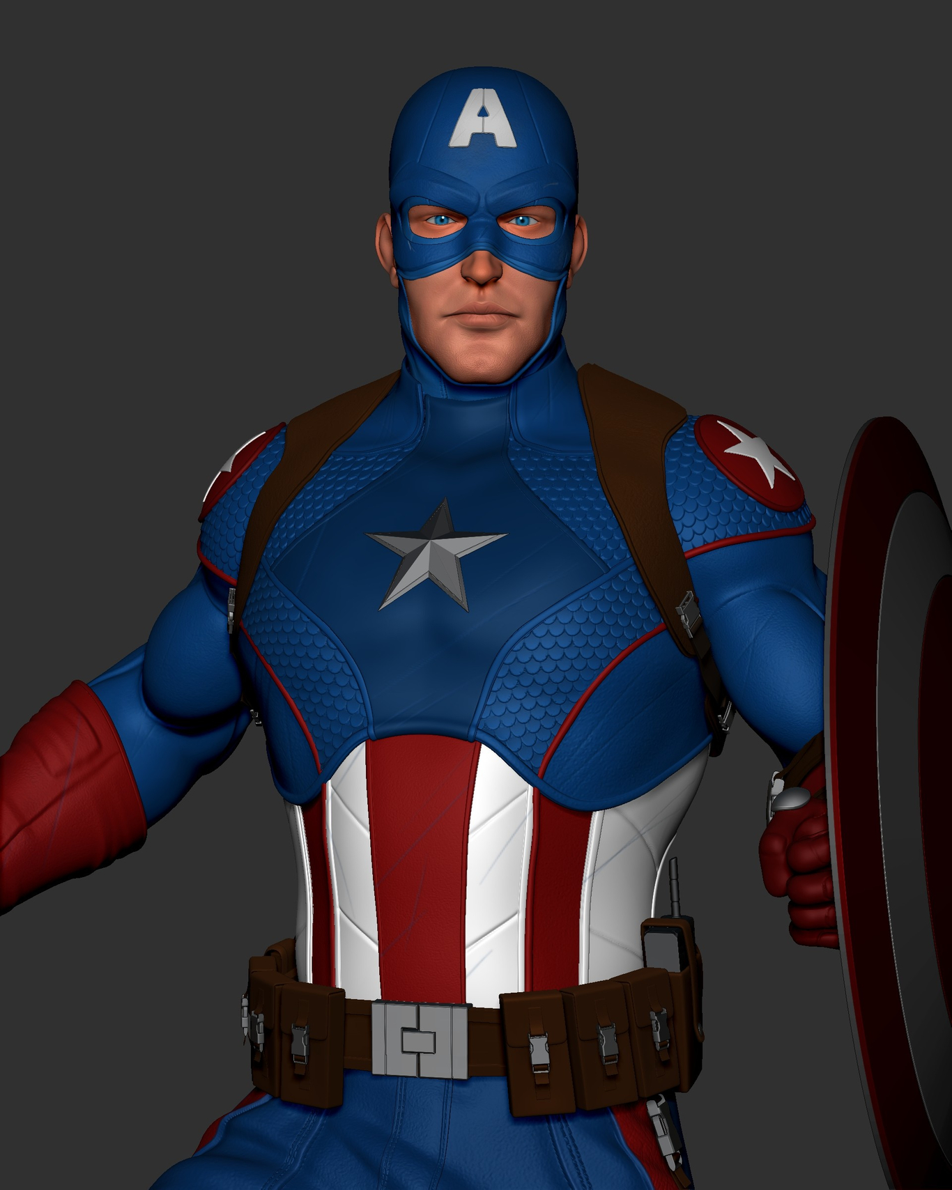 Captain America Fan Art by wgarron23 | Fan Art | 3D | CGSociety