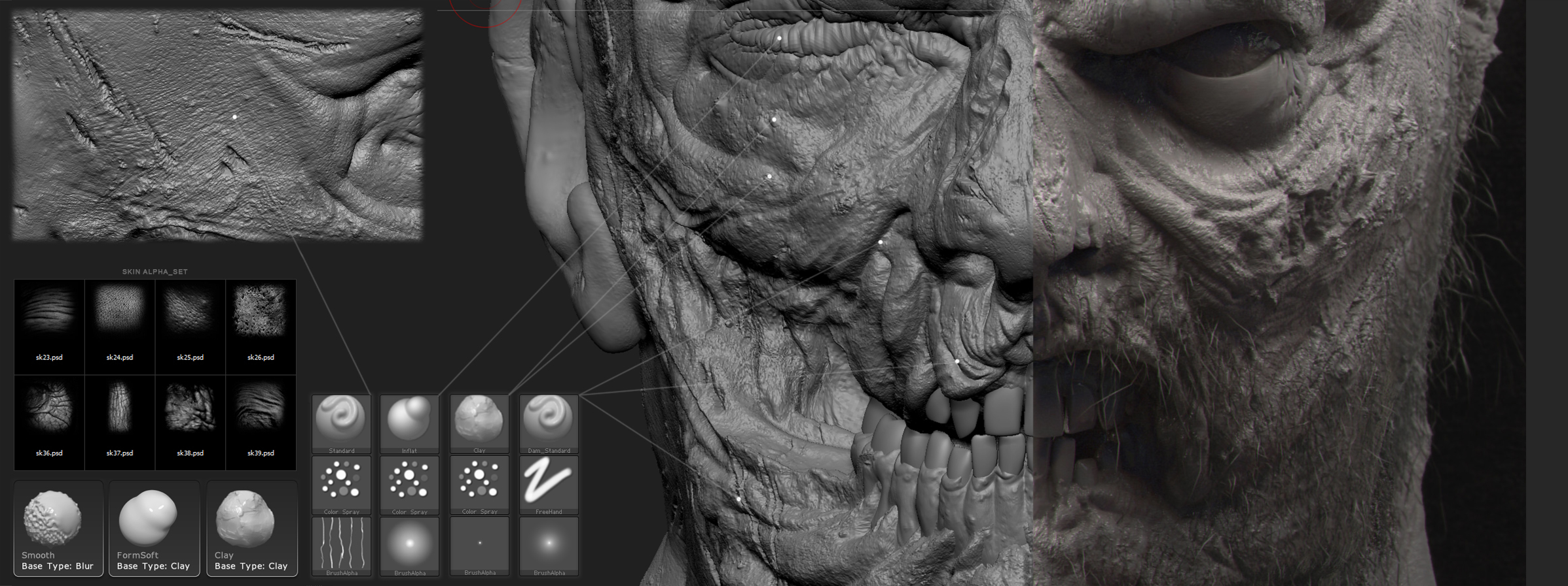 Tips and Tricks for High Poly Modeling with Zbrush, with